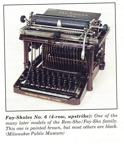 Fay-Sholes No. 6