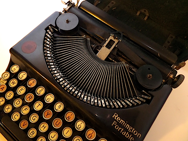 1921 Remington Portable Typewriter type guide