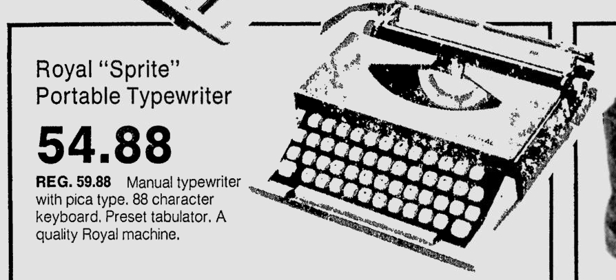 Advertisement for the Royal Sprite in the Milwaukee Journal, Dec. 11, 1973.