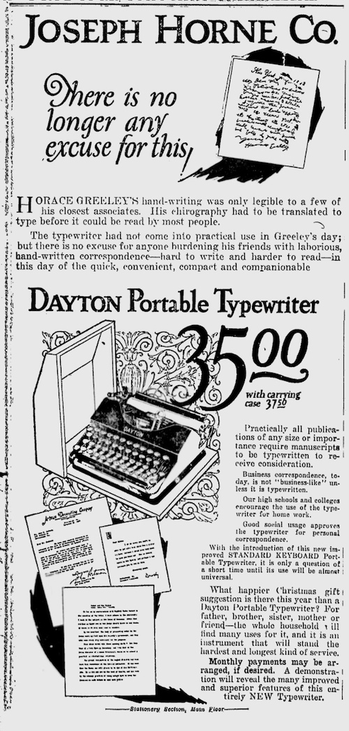 Dayton Portable Typewriter Ad 1924 copy