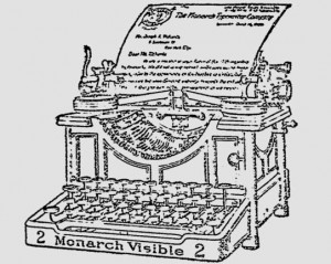 Monarch Visible 2 in ad in Philadelphia Record - Oct. 22, 1906