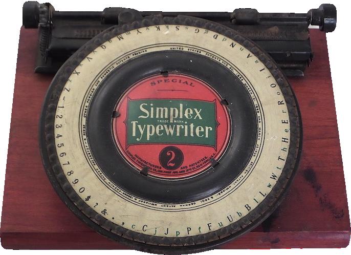 Circa 1902 Simplex Typewriter Number 2