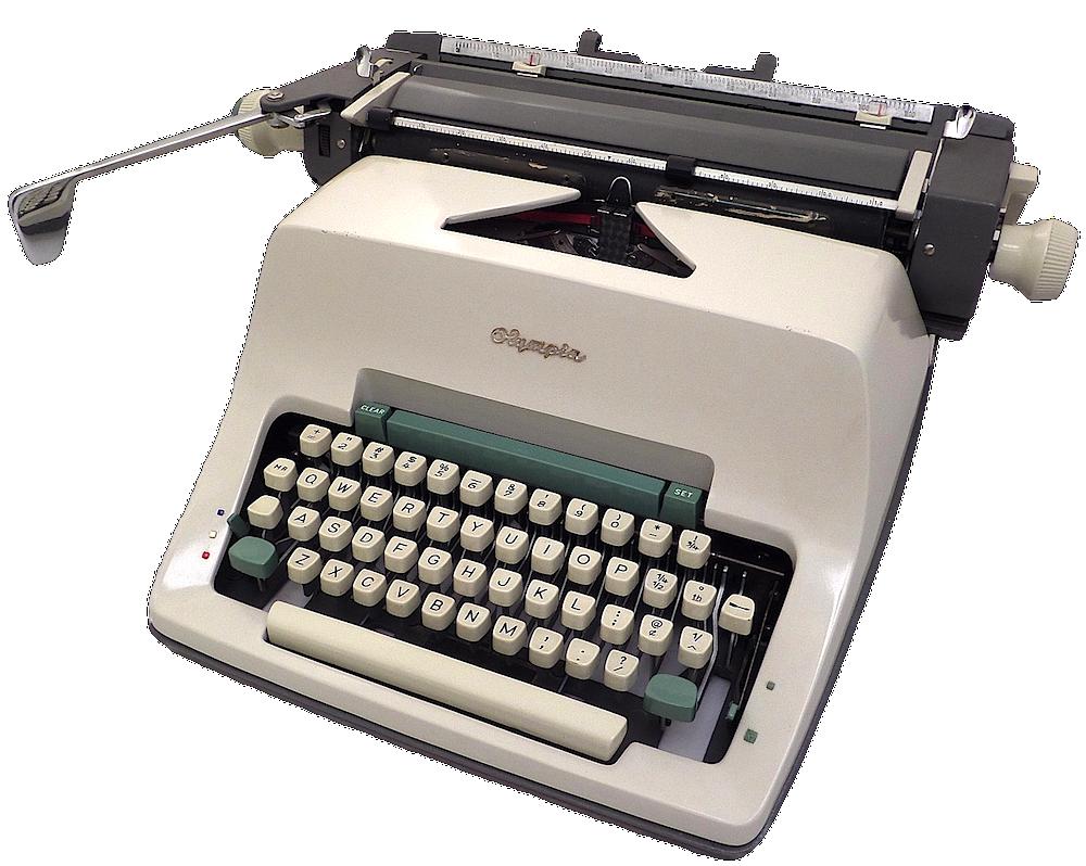 type write Español: una máquina de escribir (typewriter en inglés) es una máquina para escribir cartas y documentos en papel mediante mecanismos mecánicos.