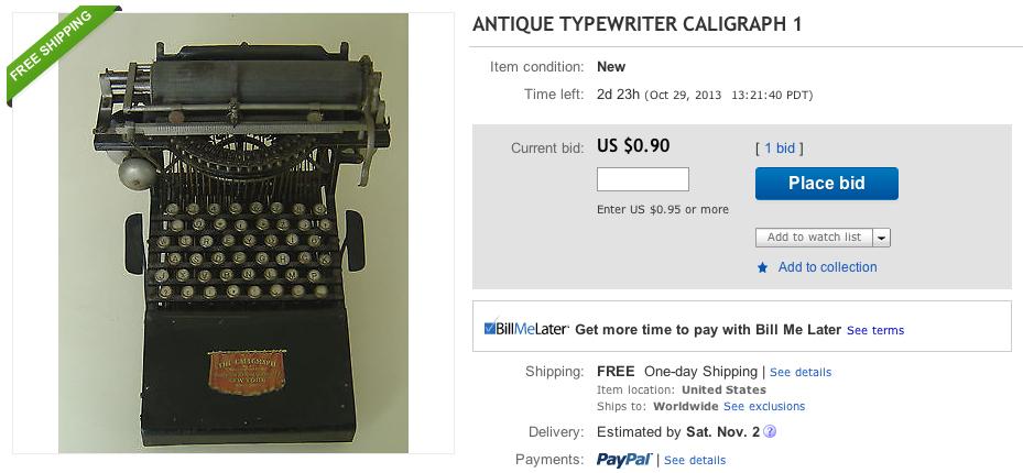eBay scam - Caligraph 1