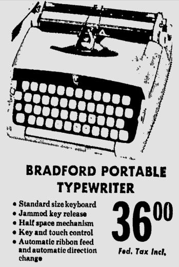 1963 Bradford Advertisement for Grants