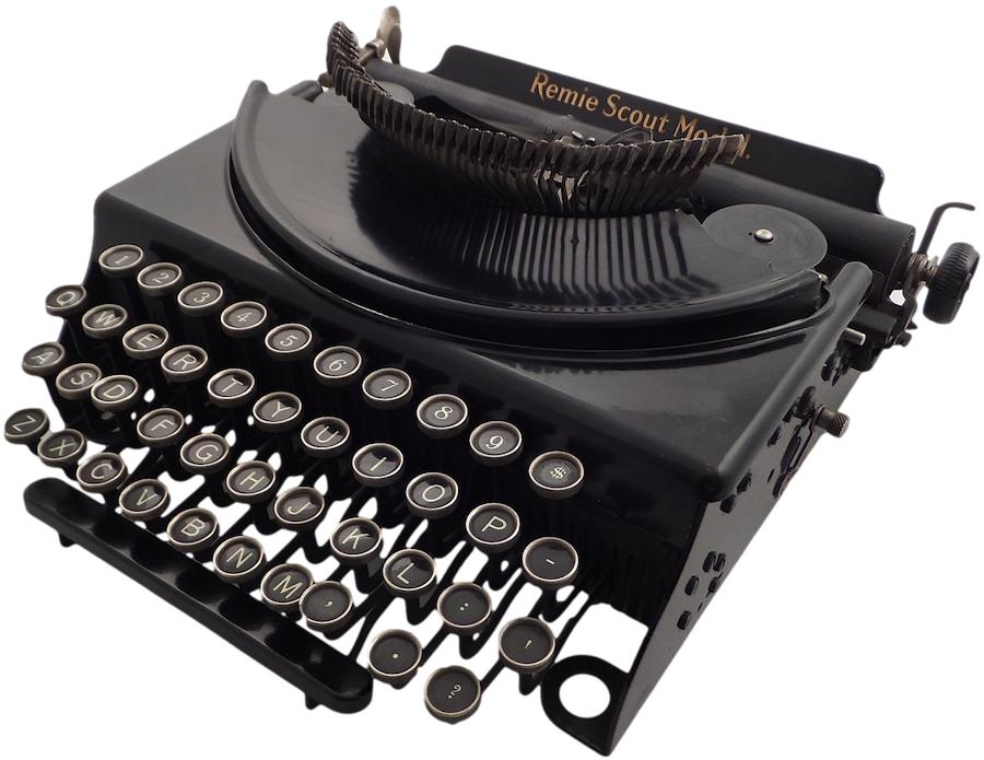 1932 Remie Scout Model, Remington portable typewriter