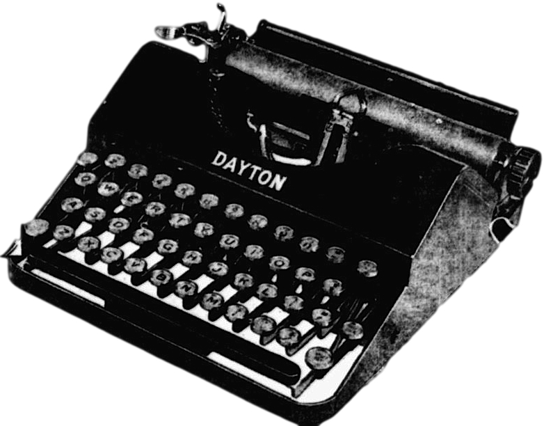 Dayton Portable Typewriter from advertisement - Type-Writer.org