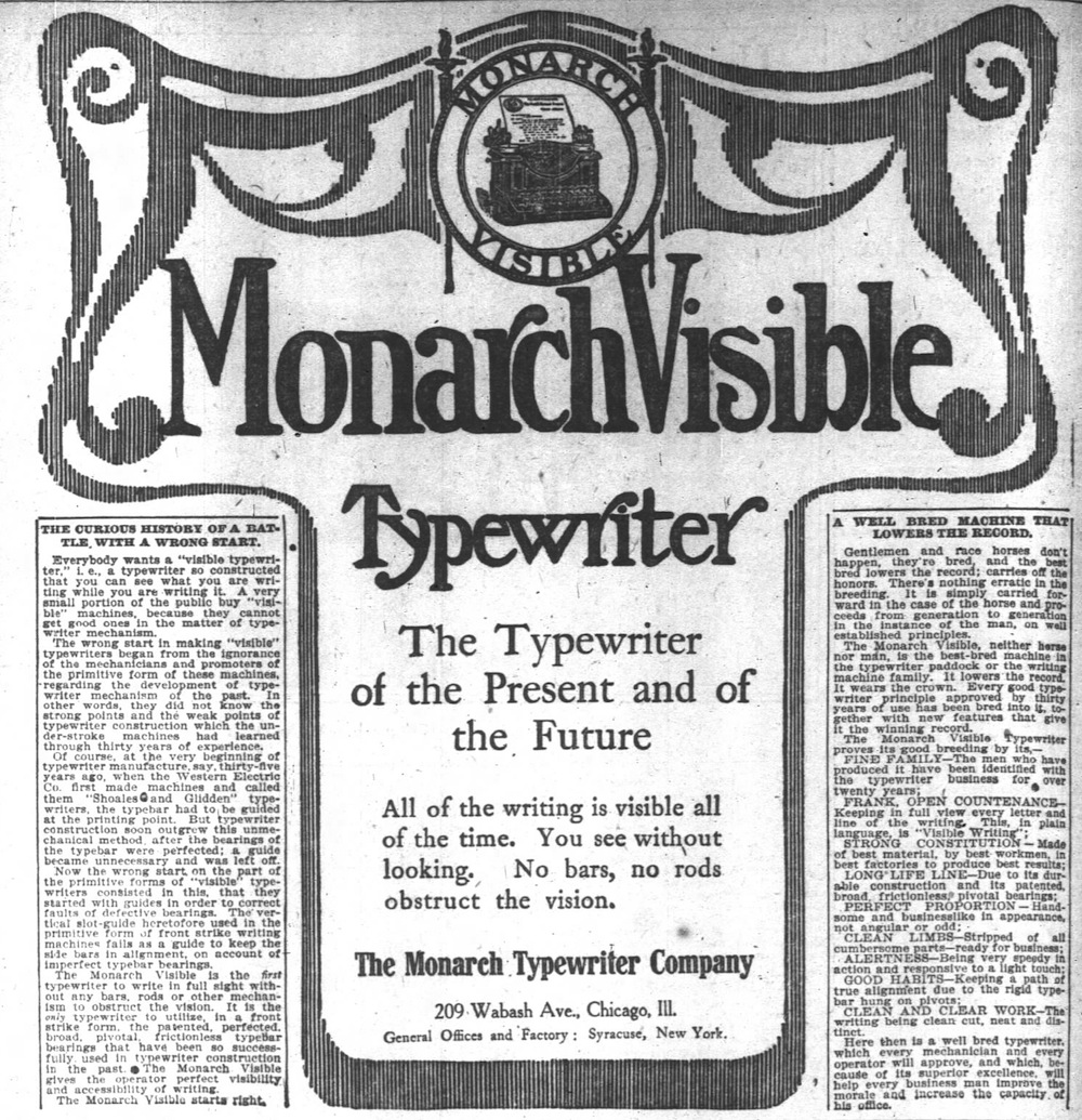 Monarch ad - Chicago Daily Tribune, May 23, 1905