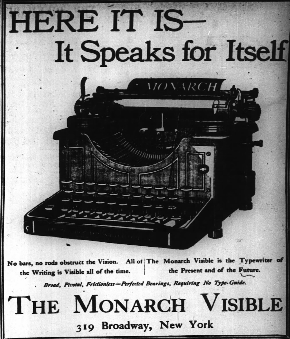 Monarch ad - New York Times, Jan. 31, 1905