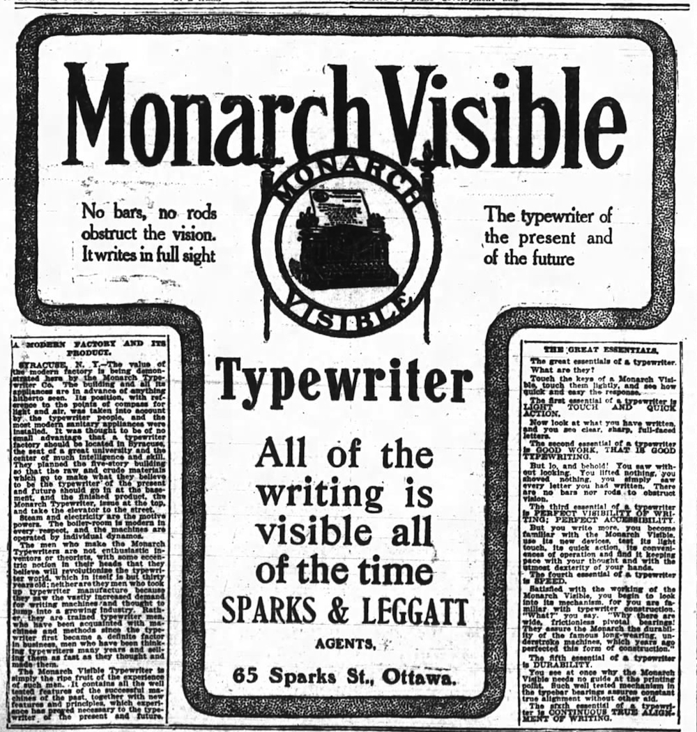 Monarch ad - Ottawa Journal, April 8, 1905