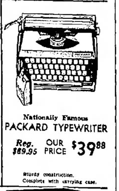 Packard Typewriter, June 15, 1967 ad