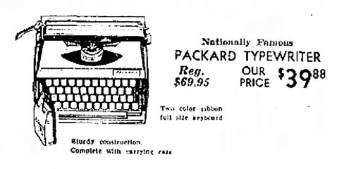Packard Typewriter, May 18, 1967 ad