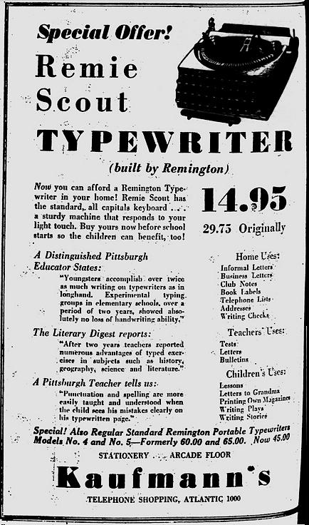Pittsburgh Post-Gazette, Aug. 15, 1933