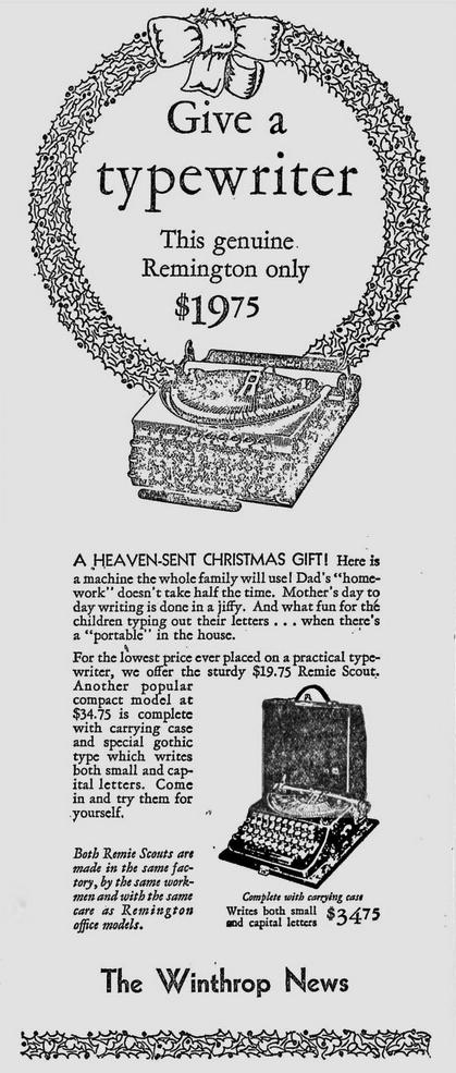 Winthrop News, Dec. 15, 1932