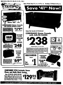 Coronado in advertisement Hobbs Daily News-Sun - Hobbs, New Mexico - Dec 10, 1969