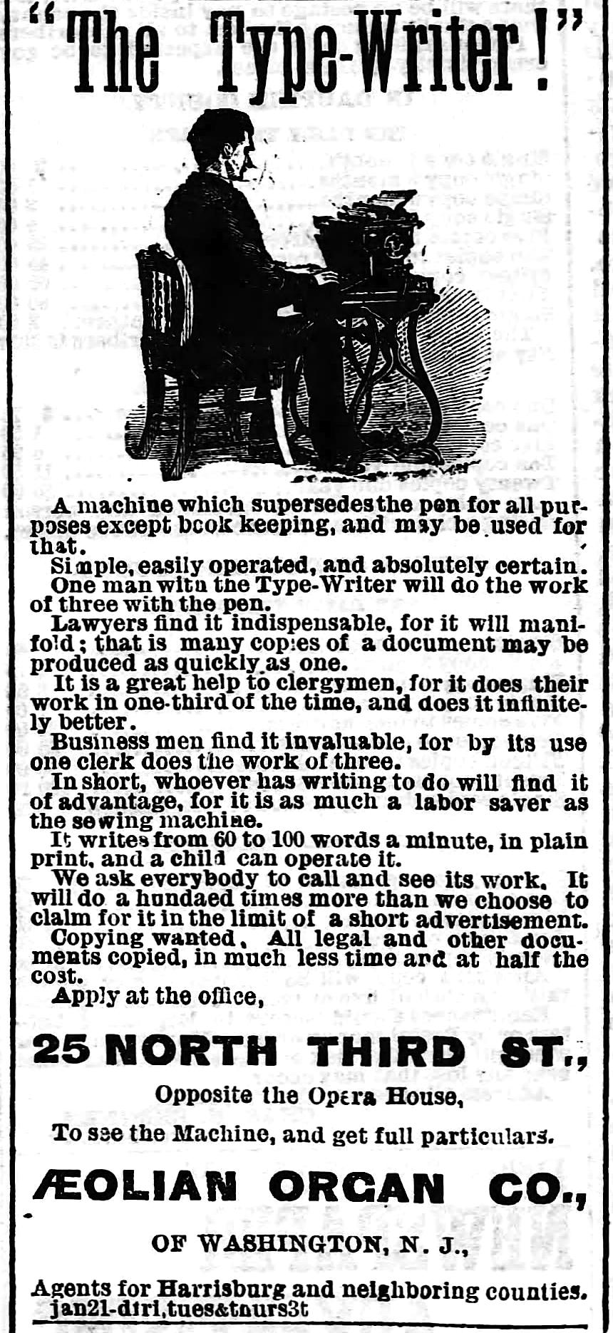 Harrisburg Telegraph - Harrisburg, Pennsylvania -  Jan 25, 1876