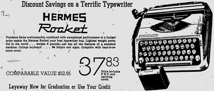 Hermes Rocket - Eugene Register-Guard - Apr 23, 1964