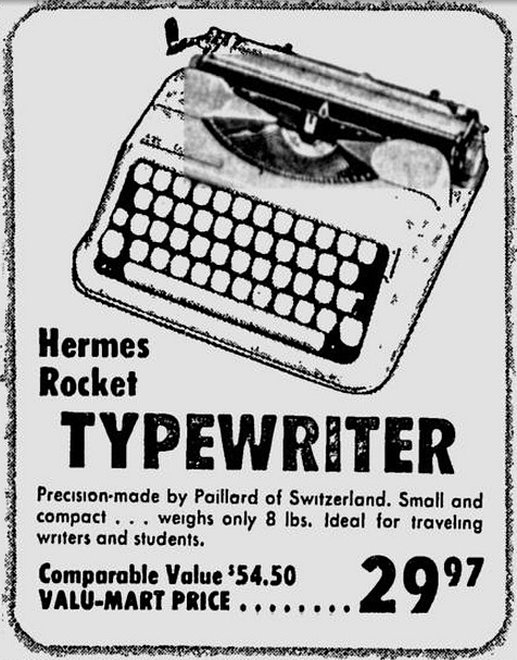 Hermes Rocket - Spokane Daily Chronicle - May 25, 1967