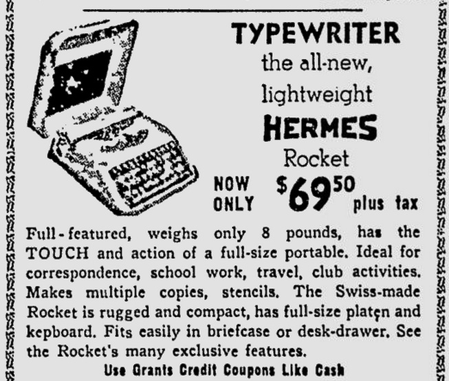Hermes Rocket - The Pittsburgh Press - Dec 16, 1955