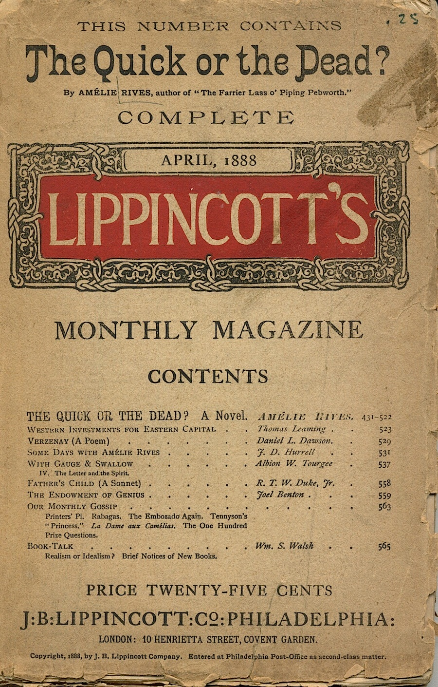 Lippincott's ephemera001