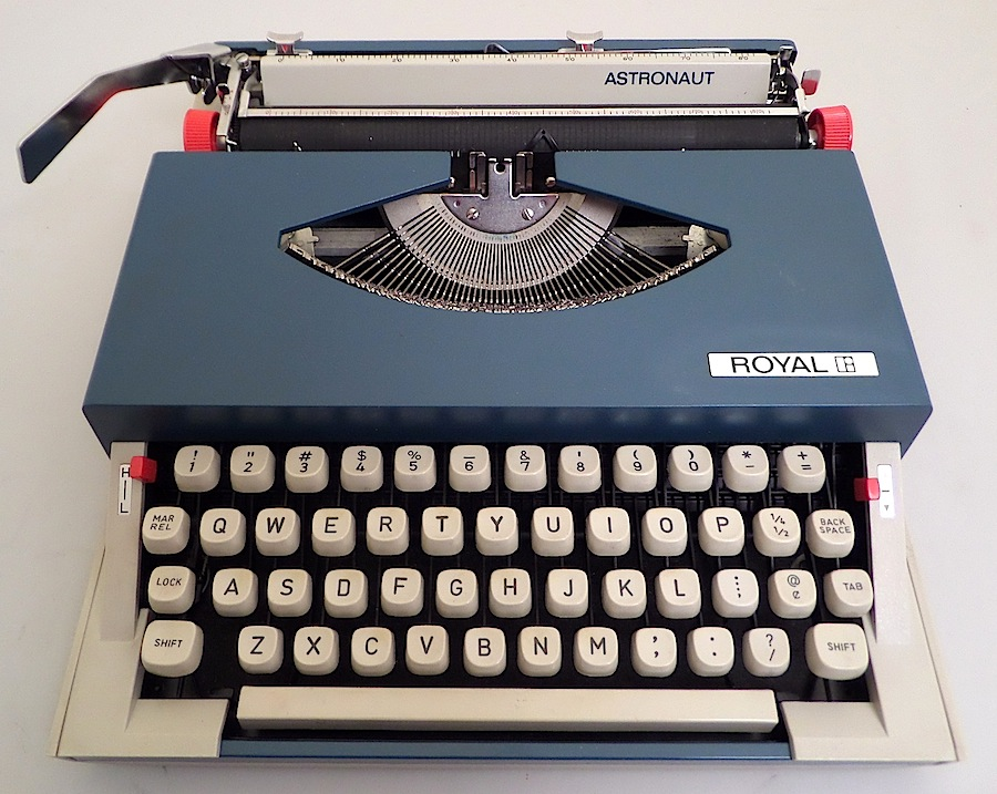 Royal Astronaut Typewriter