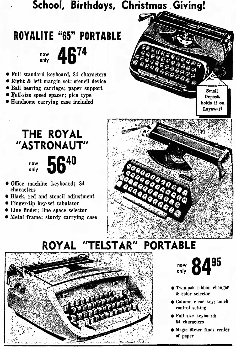 Troutman's ad - The Daily Courier - Connellsville, Pennsylvania - Sep 2, 1965