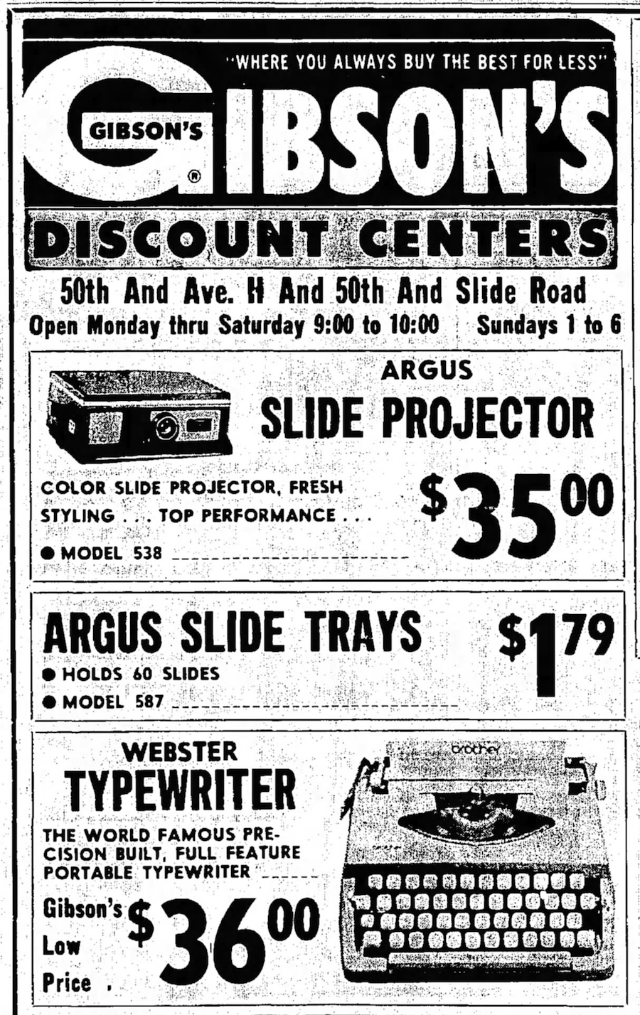 Webster Typewriter ad Lubbock Avalanche-Journal - Lubbock, Texas - Thu, Jan 1, 1970