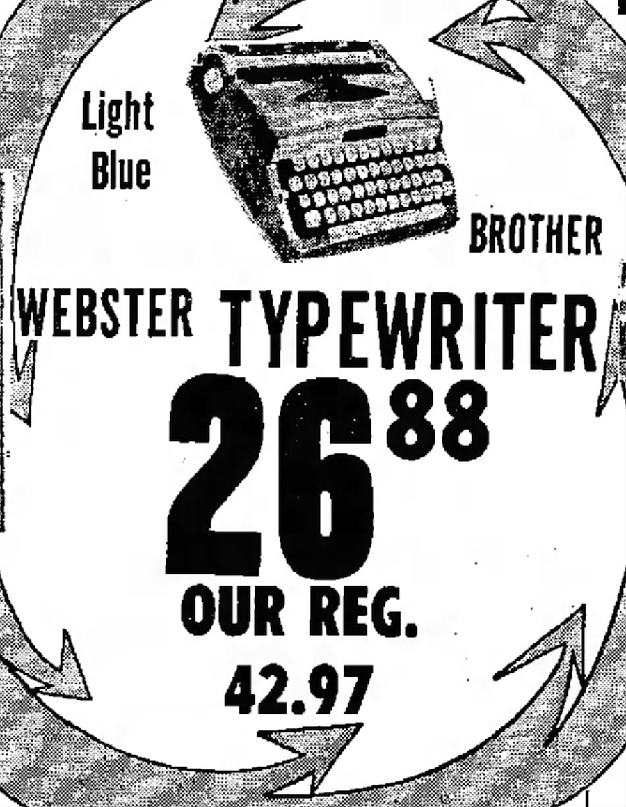 Webster ad Gibson's Abilene Reporter-News - Abilene, Texas - Thu, Oct 14, 1971