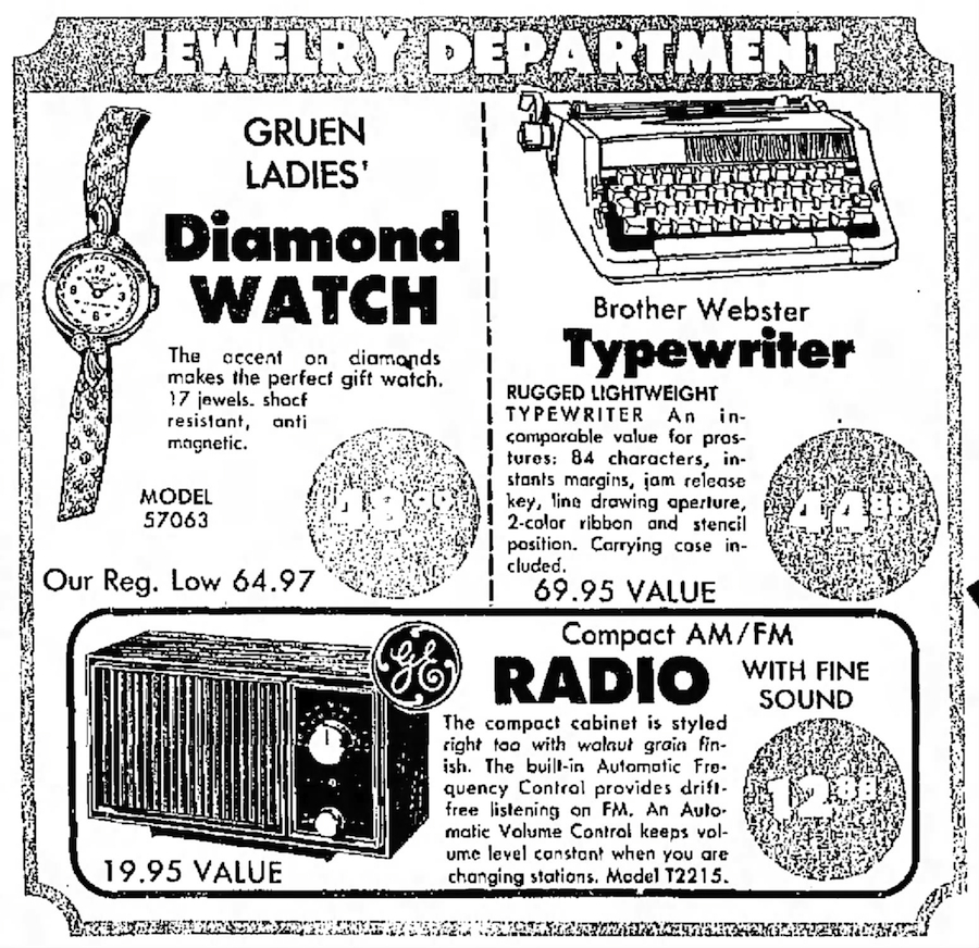 Webster ad Save Co Tucson Daily Citizen - Tucson, Arizona - Wed, Mar 20, 1974