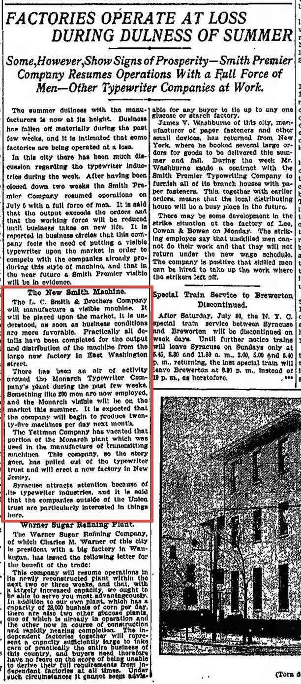 The Post-Standard (Syracuse, New York) July 30, 1904