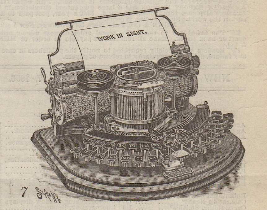 Hammond No. 1 in 1896 Scientific American
