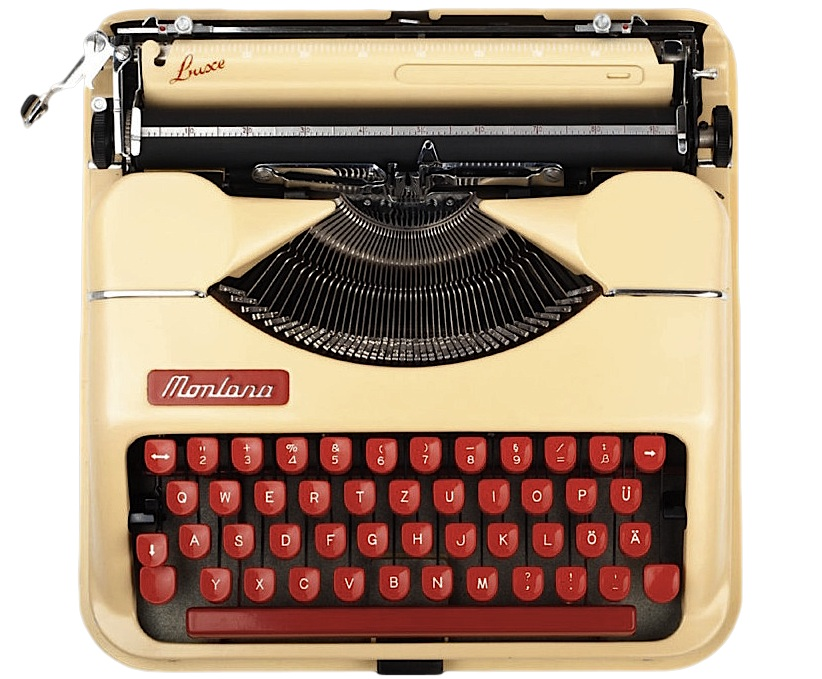 Montana Luxe Red Typewriter