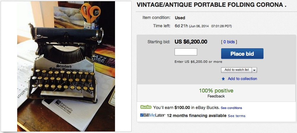 Standard Typewriter on eBay