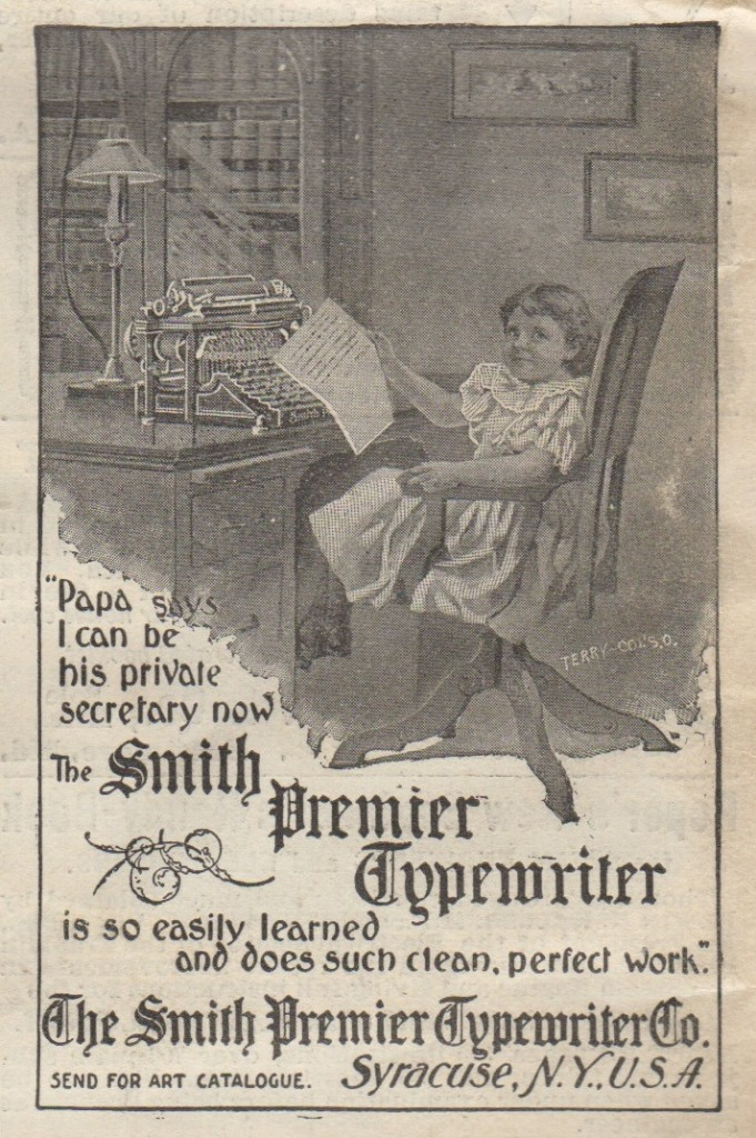 Smith Premier Ad in Scientific American 1899