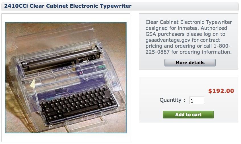 Swintec Clear Typewriter