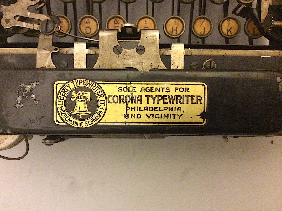 Corona No 3 Liberty Typewriter Company sticker