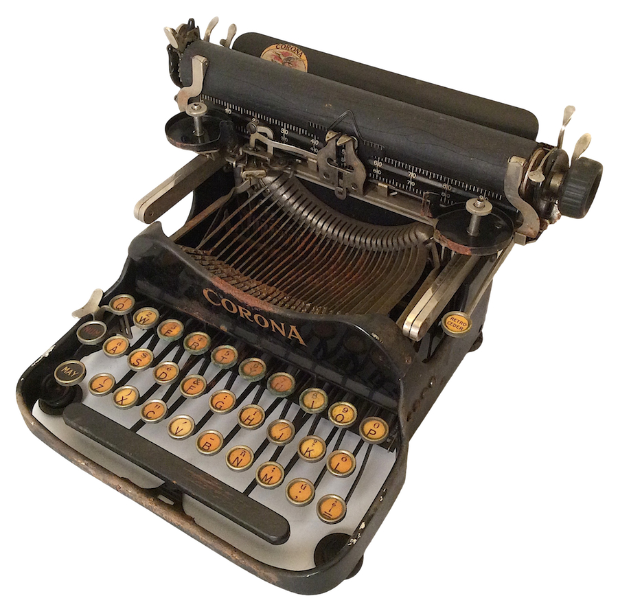 Corona No 3 Typewriter with Spanish Keyboard