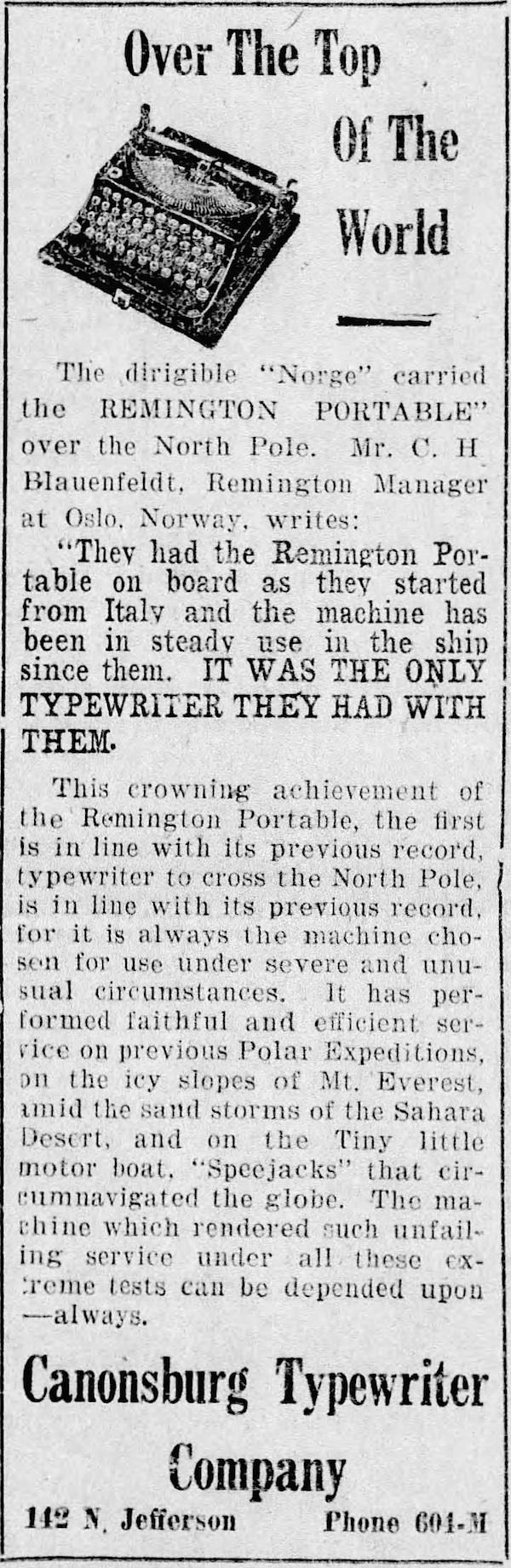 The Daily Notes (Canonsburg, Pennsylvania), Jun 1, 1926