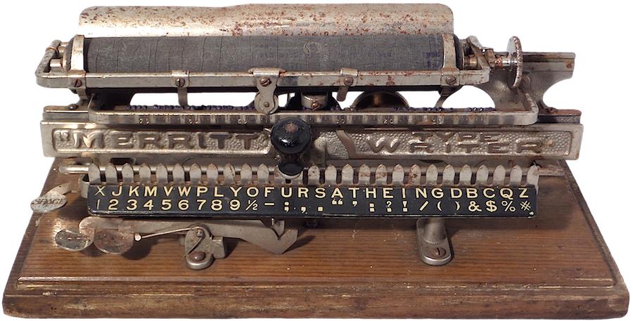 1890s Merritt Type Writer