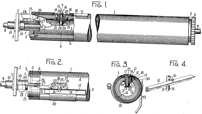 Remington Invention for holding small pieces of paper