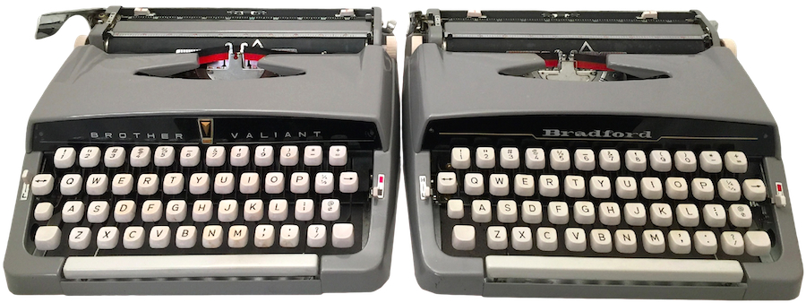 Brother Valiant and Bradford Typewriters from 1961