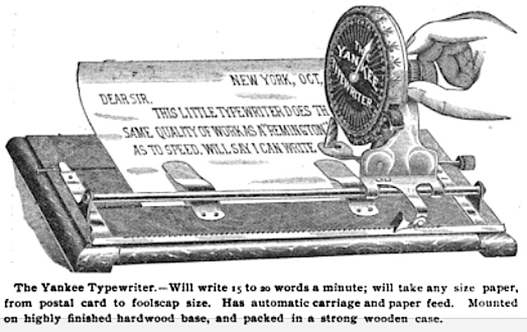 1898 Yankee Advertisement