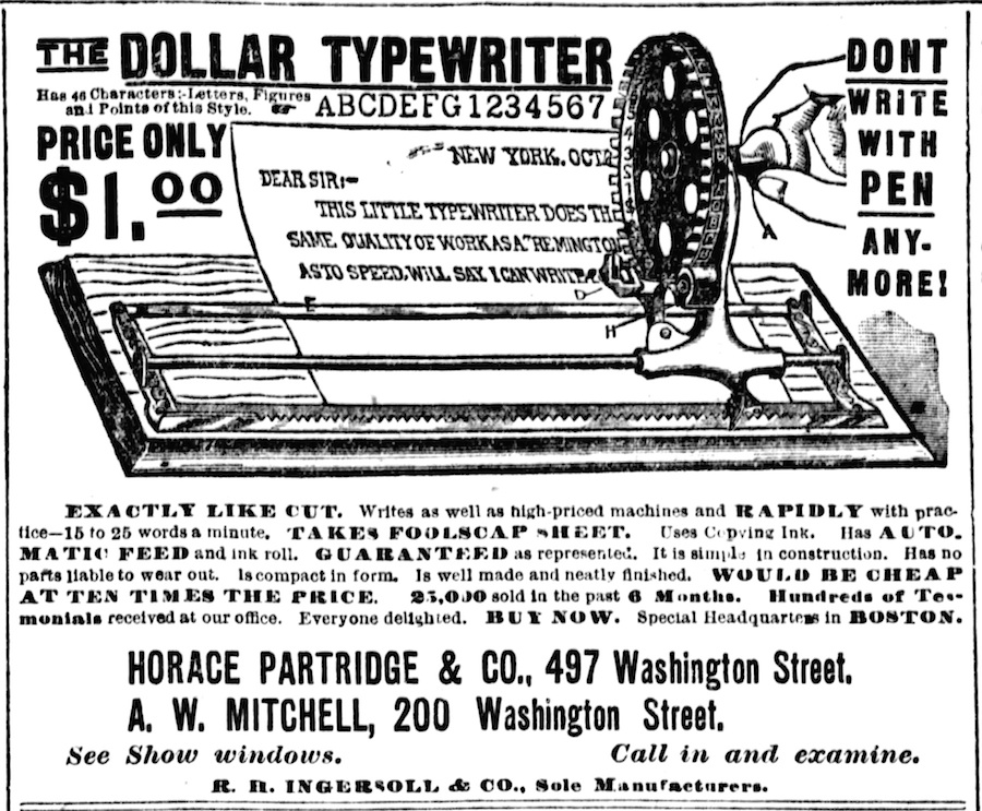 Boston Post, April 29, 1891