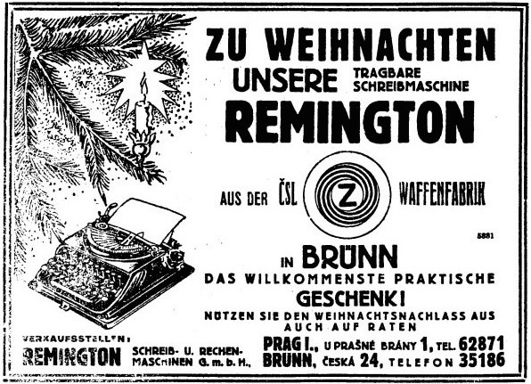 Zeta Remington Junior - From Tageblatt, Prauge, Dec. 16, 1933