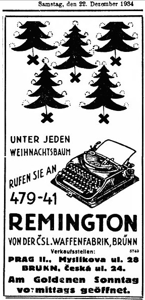 Zeta Remington Junior - Samstag December 22, 1934