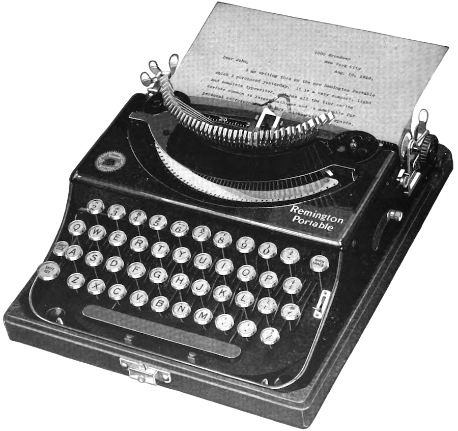 1920 Remington Portable in Typewriter Topics - August machine