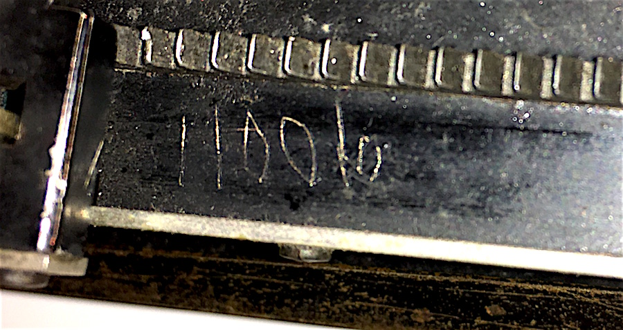 If you own a No. 3, check out the underside of the carriage. There may be a second number there, etched into the lacquer.