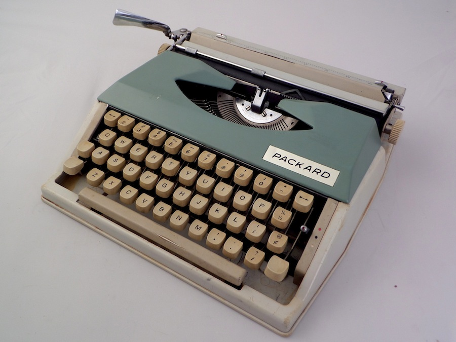 """The """"nationally famous"""" Packard typewriter"""